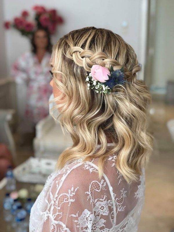 Wedding Day Hair style by The Bronzer Bali