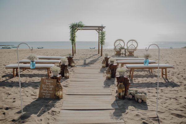 Boho Beach Wedding Bali