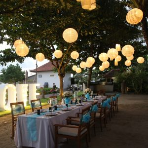 Beachside Wedding Dinner Bali