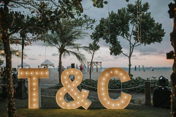 light up letters bali initials