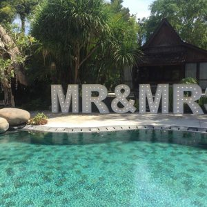 light up mr & mrs bali