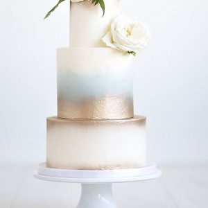 Two toned soft metallic cake balii