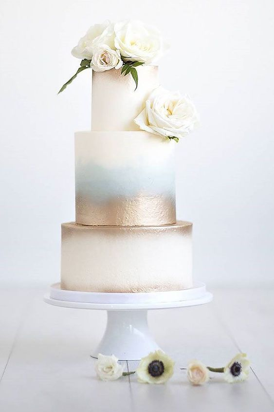 Two toned soft metallic cake balii