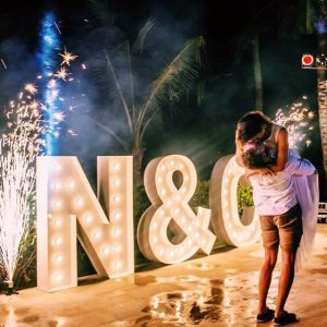 letter lights initials bali