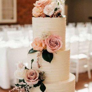 Classic Romantic Floral decor cake