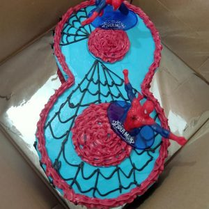 Spiderman Number Birthday Cake