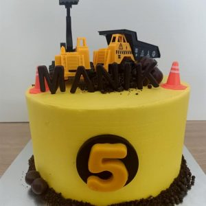 Construction cake by Ririn