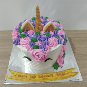 Unicorn birthday cake by Ririn
