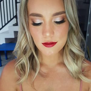 Bali Blonde hair and makeup