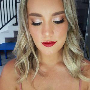 Bali Blonde hair and makeup
