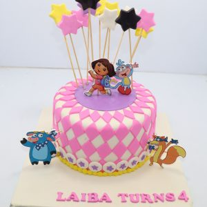 Dora the explorer cake bali