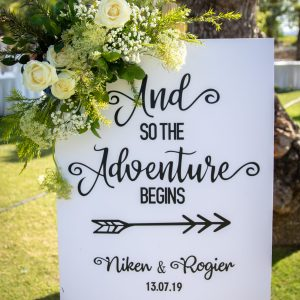 Adventure Welcome Sign