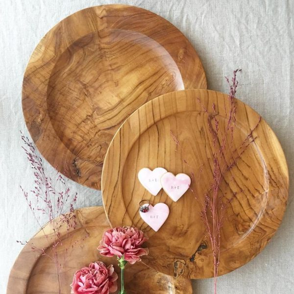 Mini love heart cookies
