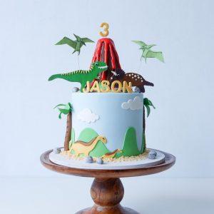 Dinosaur island cake