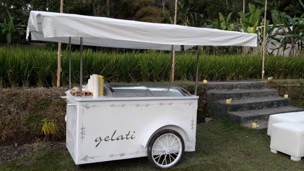 White Gelato Cart bali