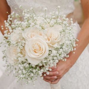 Pretty White bridal bouquet
