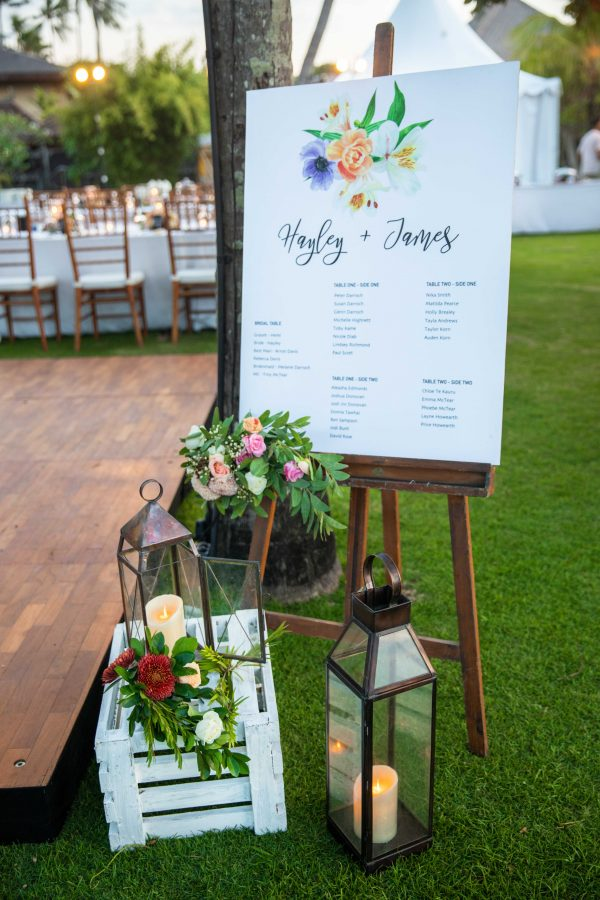 Pretty Floral Seating chart