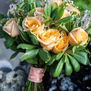 Peach Rose bouquet