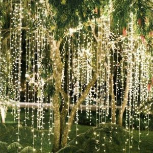 fariy lights in trees in bali