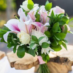 Wedding bouquet bali wedding lilies