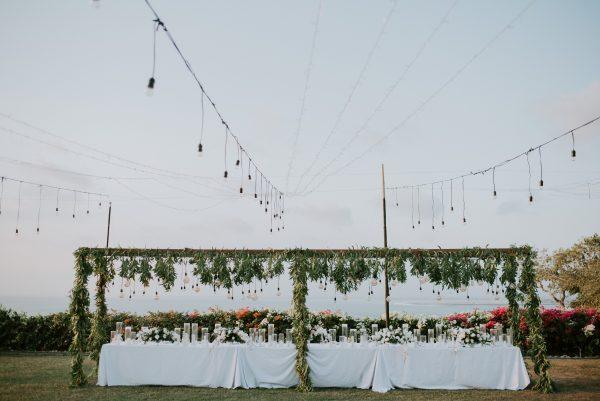 Bali wedding florals bridal