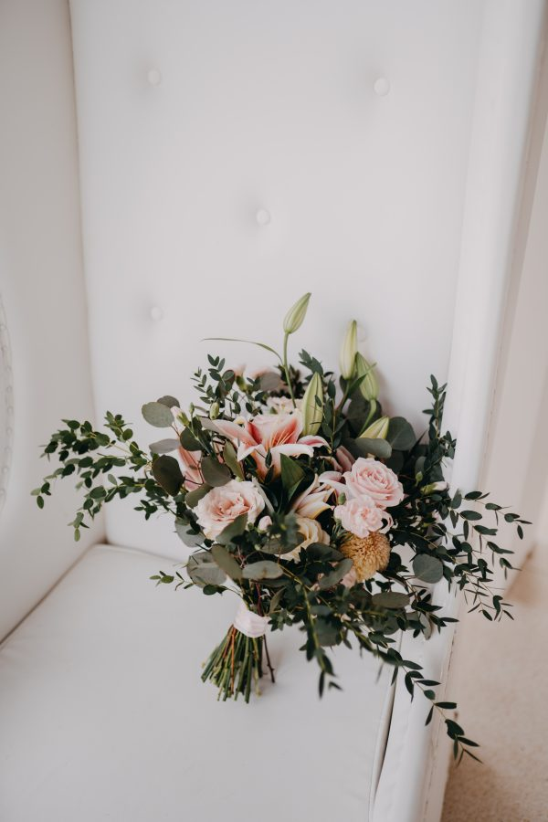 Full Sized Wild Greenery and Lily Bouquet