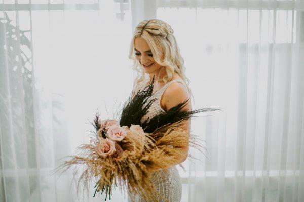 bridal bouquet moody